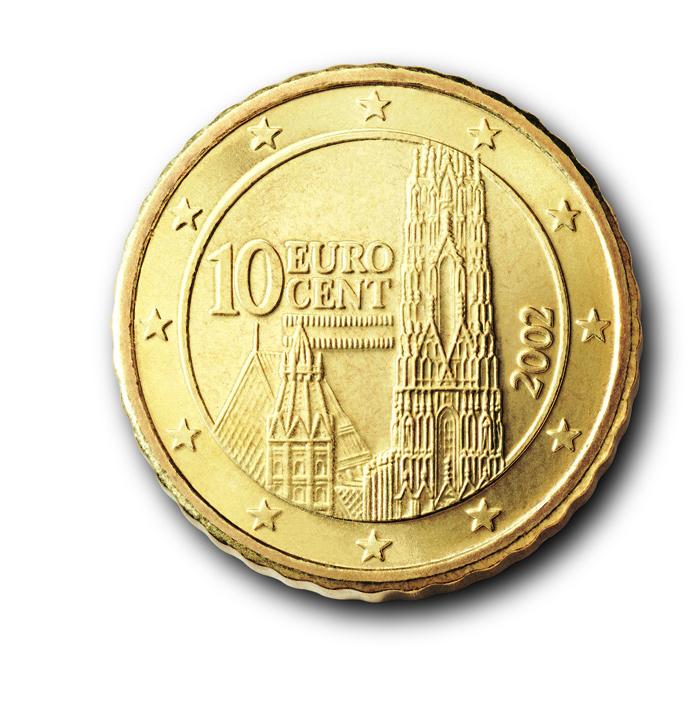 10 Cent Euro Münzen österreich Ausreise Info