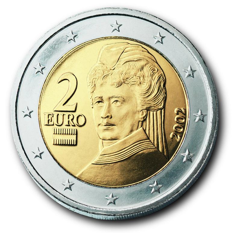 2 Euro Münzen österreich Von Historia Hamburg Sondermünzen
